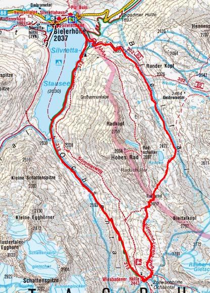 Über den Radsattel zur Wiesbadener Hütte