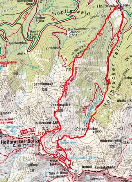 Hochgränten-Hollbrucker Spitze Rundtour