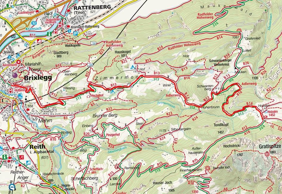 Holzalm (1452 m) von Brixlegg