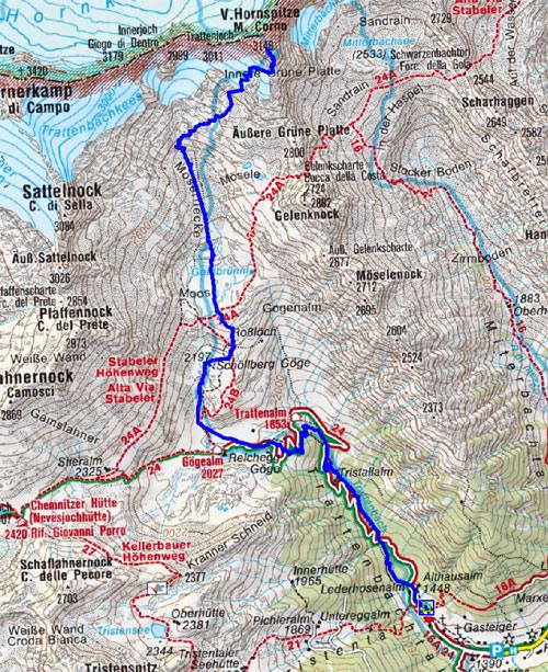 V. Hornspitze (3146 m) von Weissenbach