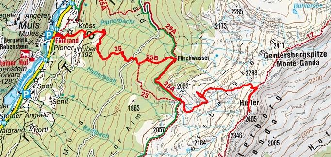 Hurler (2405 m) von Muls im Sarntal