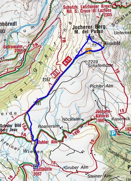 Jocherer Berg (2390 m) von der Stöffl Hütte