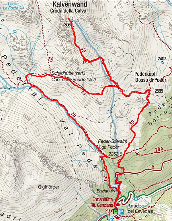 Kalvenwand (3061 m) von Hintermartell