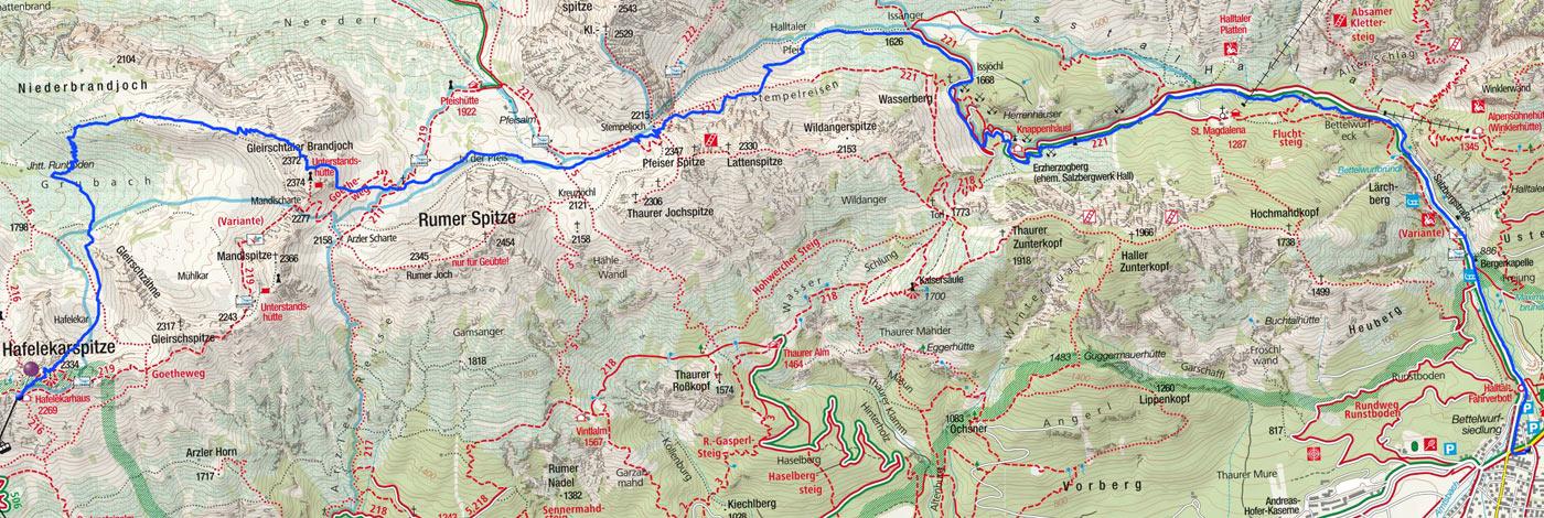 Kleine Karwendel-Durchquerung vom Hafelekar ins Halltal