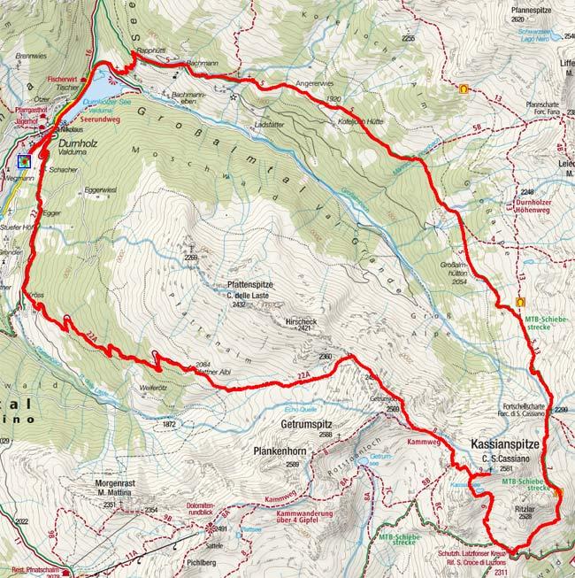 Kassianspitze (2581 m) von Durnholz durch das Großbachtal