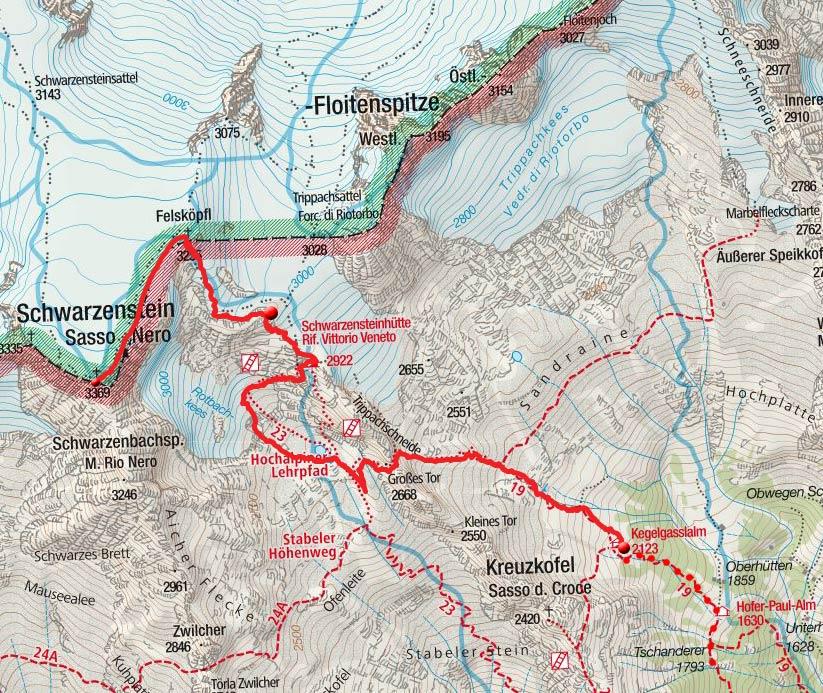 Schwarzenstein (3369m) von der Kegelgasslalm