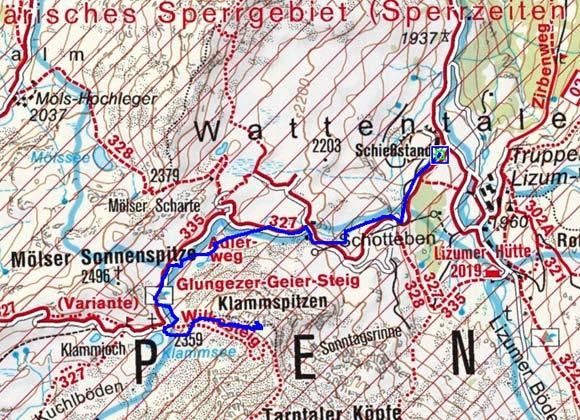 Klammspitzen (2535 m) von der Lizumer Hütte