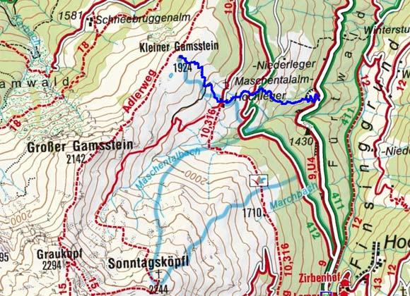 Kleiner Gamsstein (2142 m) von Hochfügen