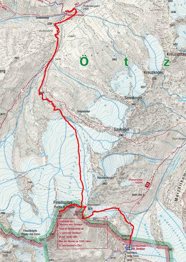 Kleine Venter Skirunde Tag 2 - Finailspitze