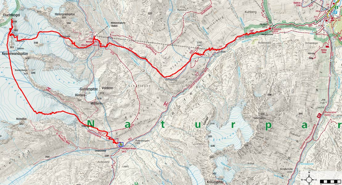 Kleine Venter Skirunde Tag 3 - Fluchtkogel