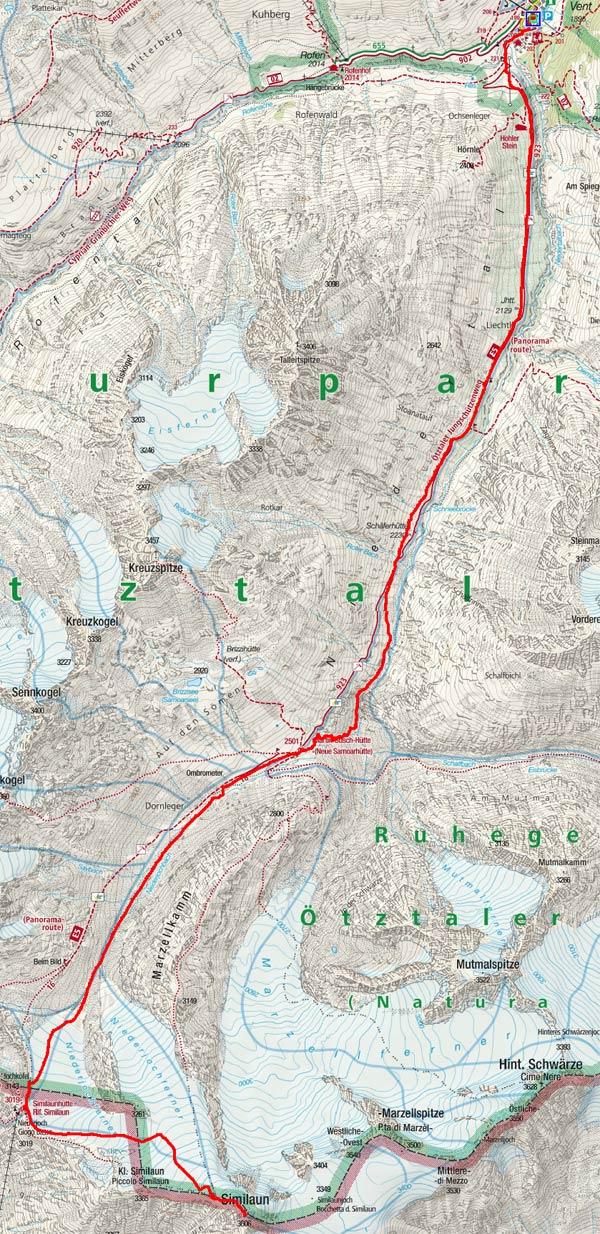 Kleine Venter Skirunde Tag 1 - Similaun