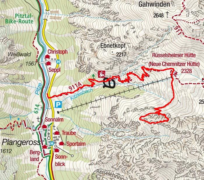 Klettersteig Kleinbärenzinne (2520m) im Pitztal