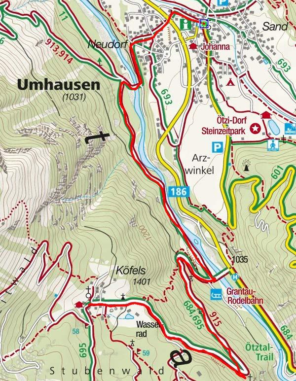 Bergdorf Köfels von Umhausen