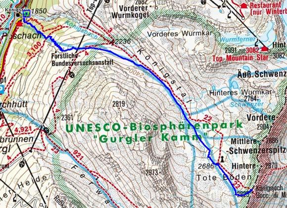 Königsjoch (2825 m) von Obergurgl