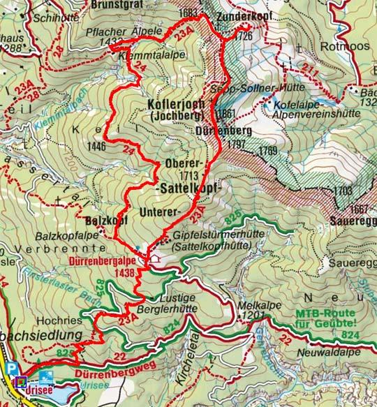 Koflerjoch (1861 m) vom Urisee