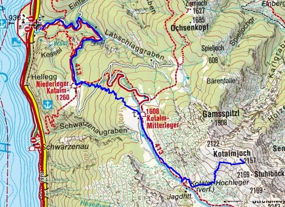 Kotalmjoch (2157 m) vom Achensee