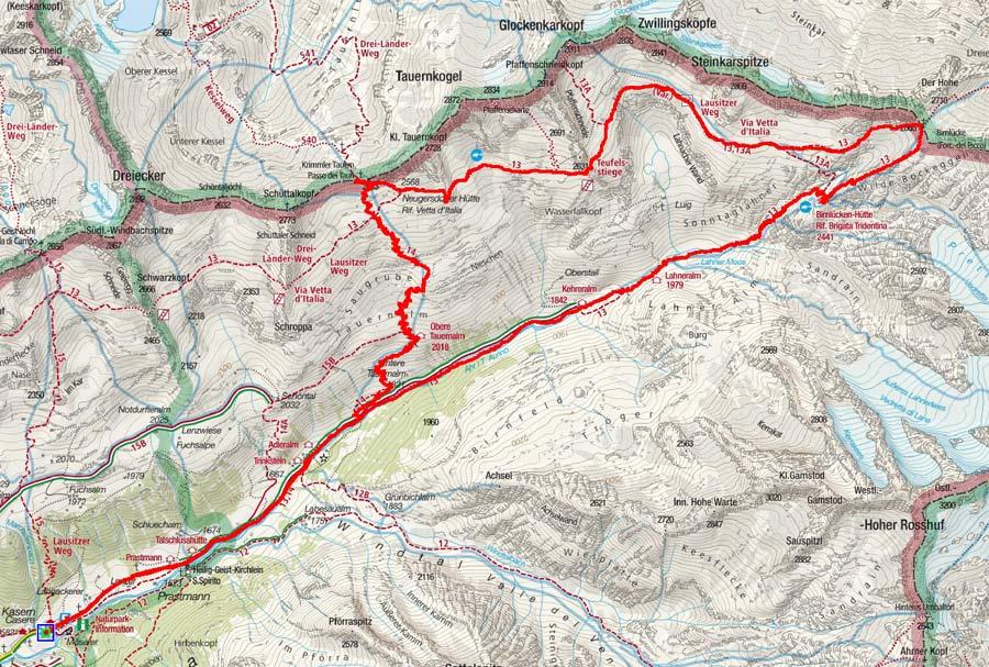 Krimmler Tauern Pass - Birnlücke Rundtour