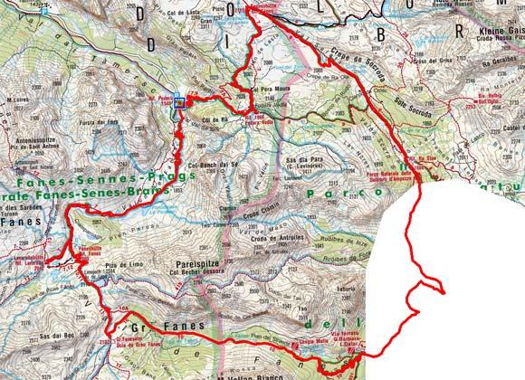 Kleine Naturpark Fanes-Sennes-Prags Rundtour
