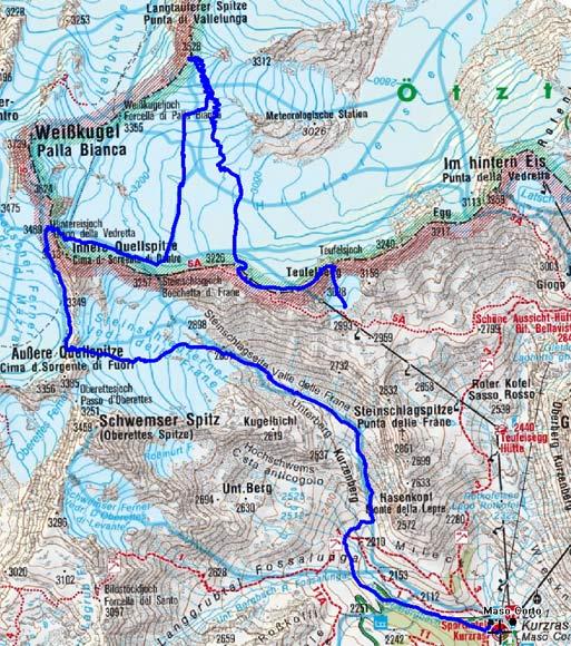Langtauferer Spitze (3526 m) vom Teufelsegg