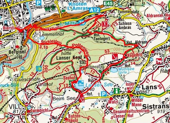Innsbruck - Lanser See Rundwanderung