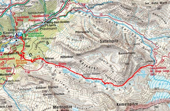Lenkjöchlhütte (2603 m) durch das Röttal