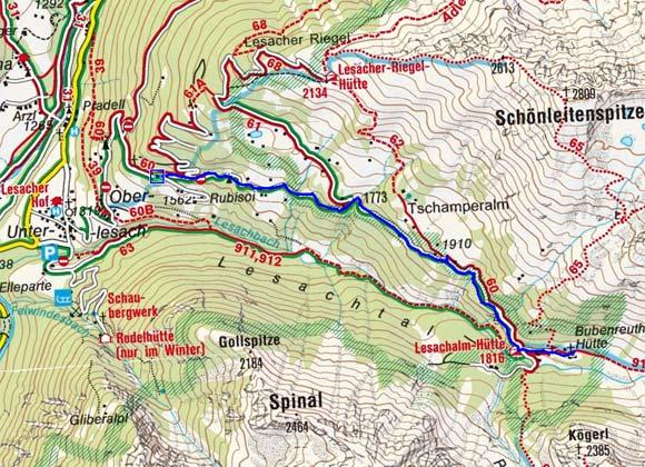 Bacher Alm und Lesacher Almen (1885/1835 m) von Lesach