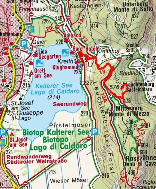 Leuchtenburg vom Kalterer See