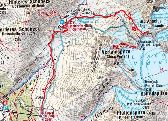 Großer Angelus (3521 m) vom Kanzellift