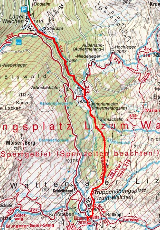 Tag 3: Lizumerhütte über Zirbenweg nach Wattenberg