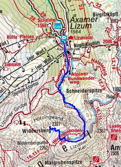 Widdersberg (2327 m) durch das Lizumer Kar