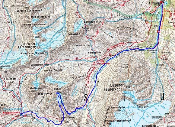 5 Tag: Winnebachseehütte-Hoher Seeblaskogel-Lüsens