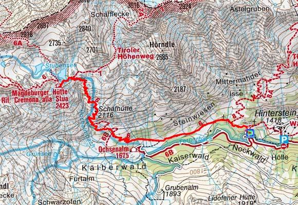Magdeburger Hütte (2423 m) von Innerpflersch
