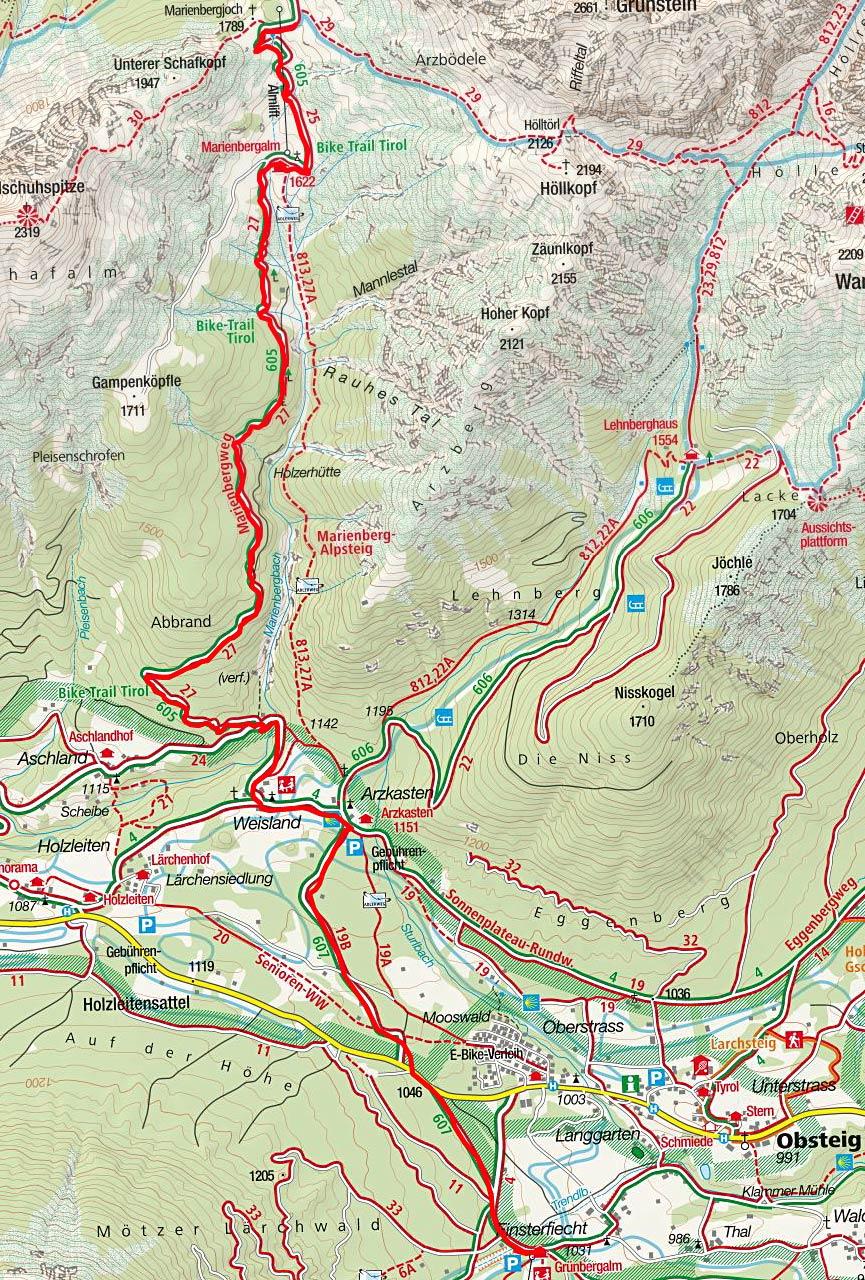 Marienbergalm & Marienbergjoch von Obsteig