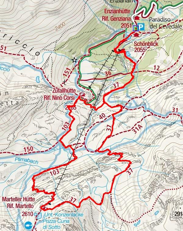 Martellerhütte Höhenweg
