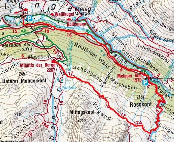Höhenweg Maseben - Melager Alm