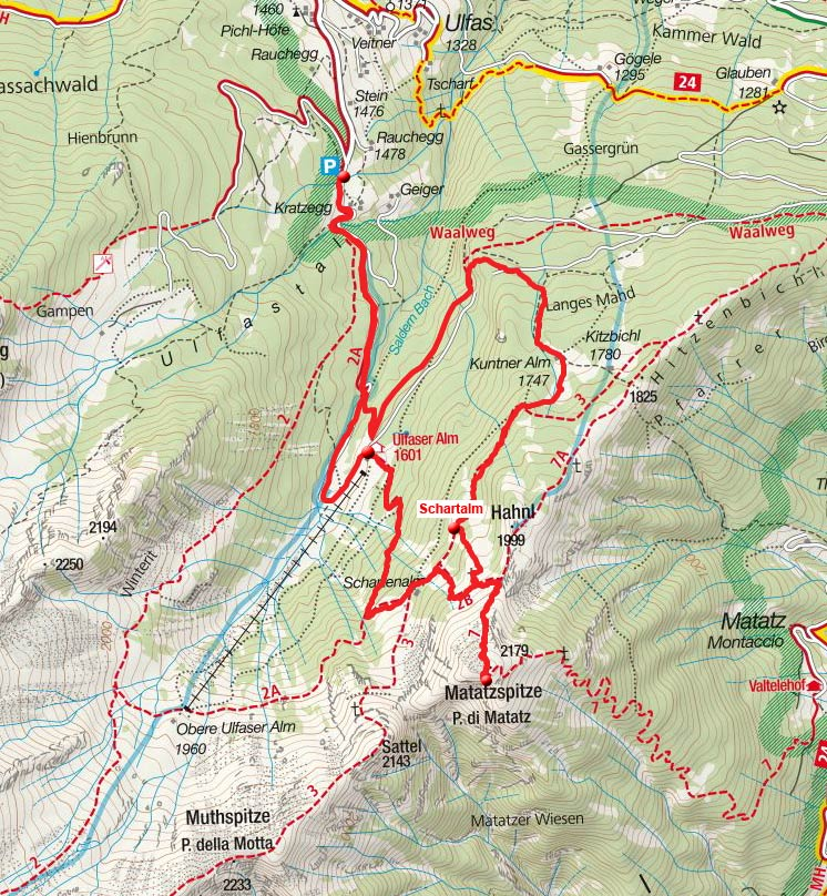 Matatzspitze (2179m) von Ulfas