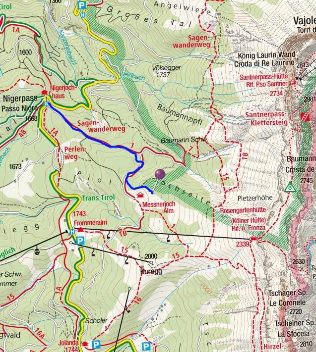 Rodelbahn Almhütte Messnerjoch