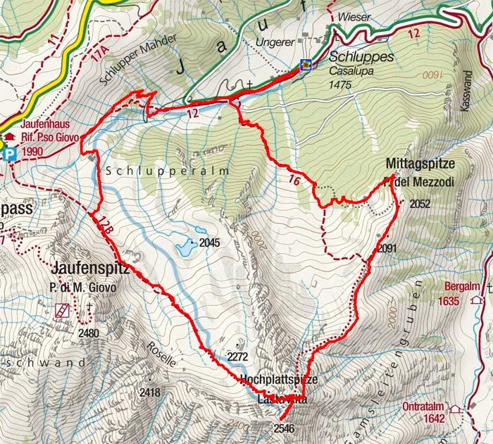 Mittagsspitze & Hochplattspitze Rundtour