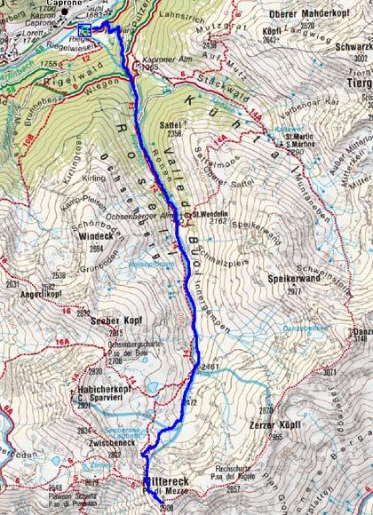 Mittereck (2908 m) von Kapron