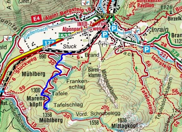 Mühlberg (1330 m) von Scharnitz