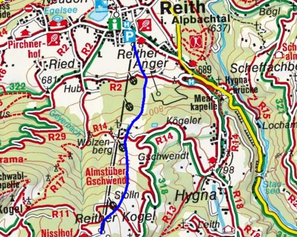 Reither Kogel (1110 m) von Reith im Alpbachtal