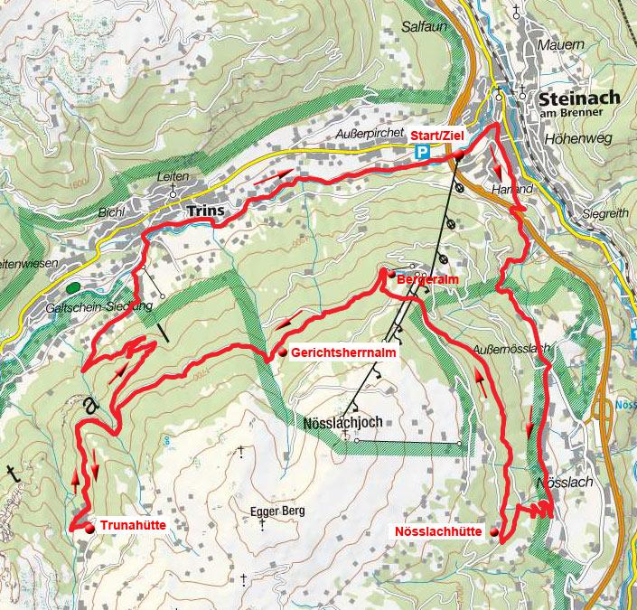 4-Hütten & Almenrunde von Steinach