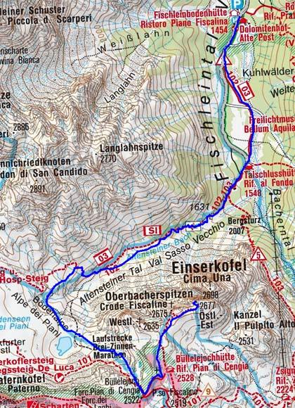 Östliche Oberbachernspitze (2675 m) durch das Altensteinertal