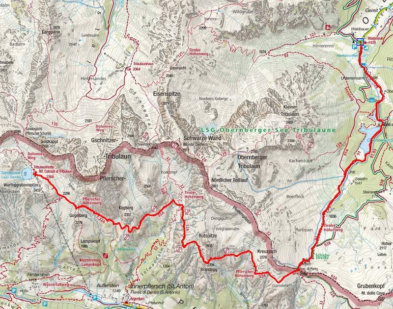 Obernberger Tal – Portjoch – Italienische Tribulaunhütte