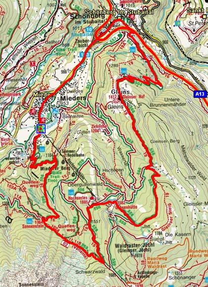 Ochsenhütte - Alpengasthof Sonnenstein Rundtour