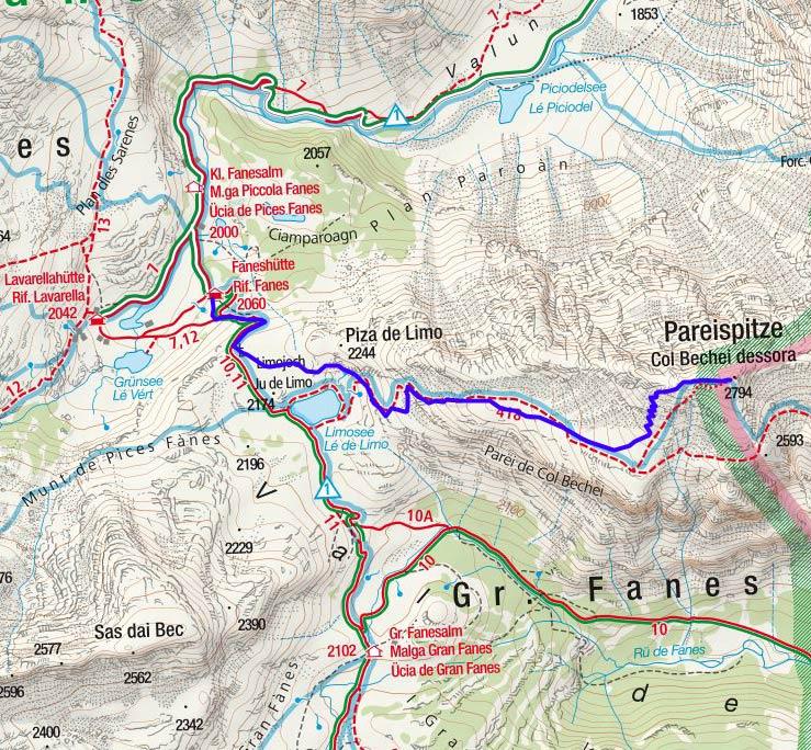Pareispitze (2794 m) von der Faneshütte