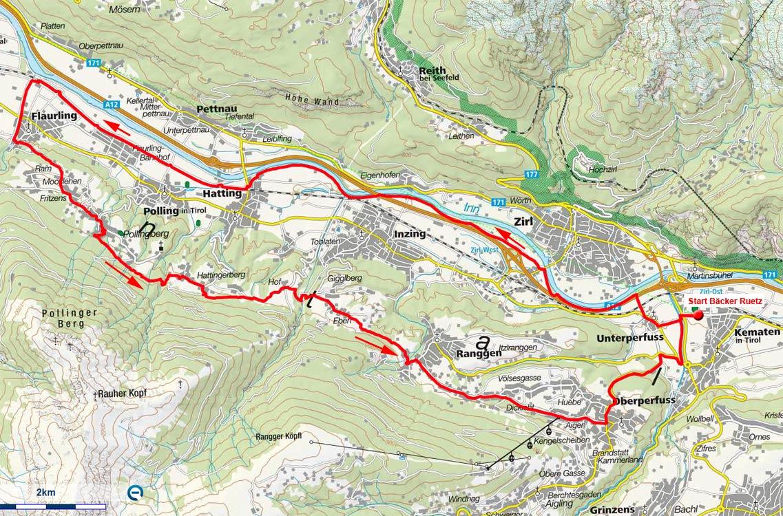 Peter-Anich-Weg Rundfahrt von Kematen