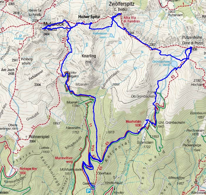 Pfunderer-Express (Vier-Gipfel-Rundtour)