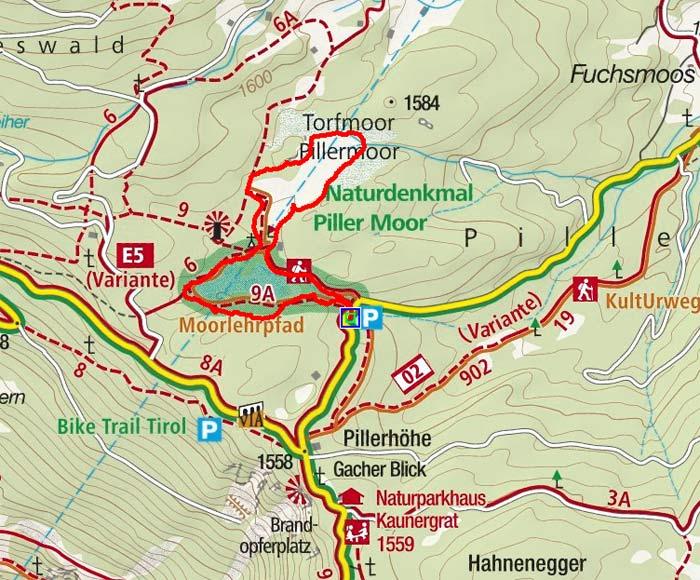 Naturdenkmal Piller Moor - Rundwanderung