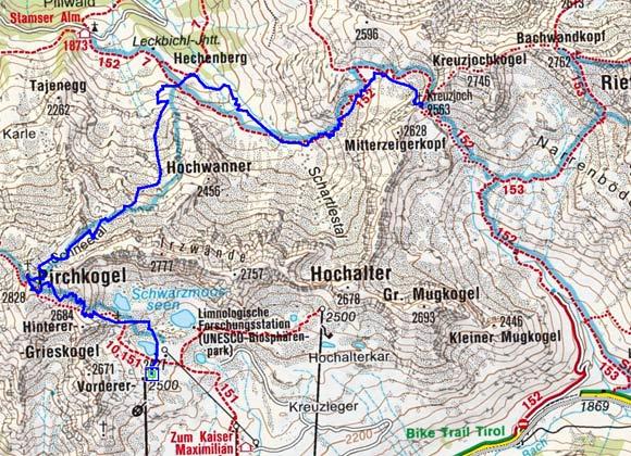 Pirchkogel Rundtour (2828 m) von Kühtai